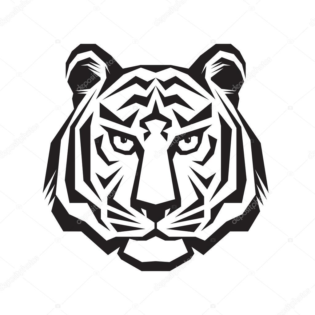 Fabuleux Tête de tigre - vector logo concept illustration graphique de  WK85