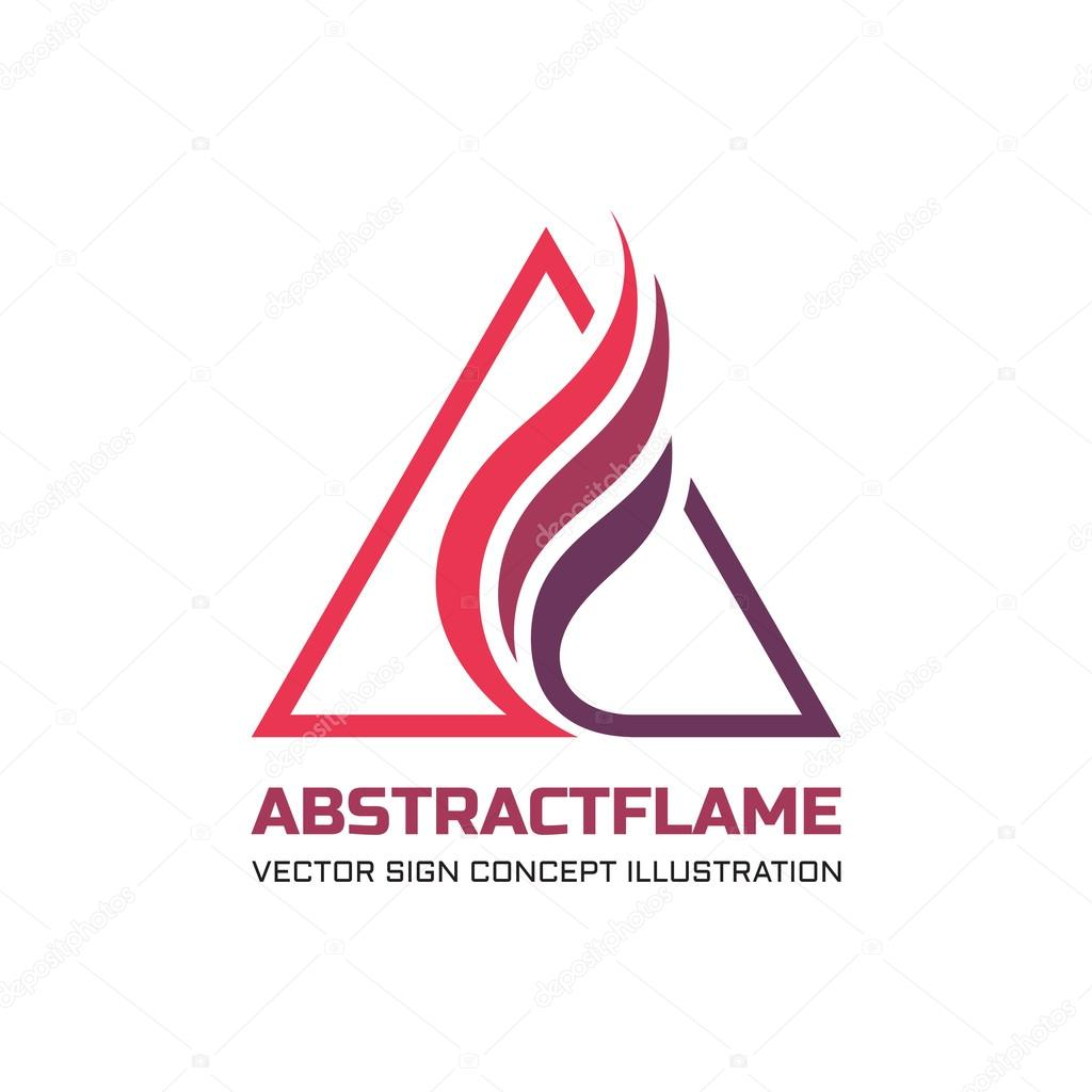 abstract flame vector logo concept illustration for business company