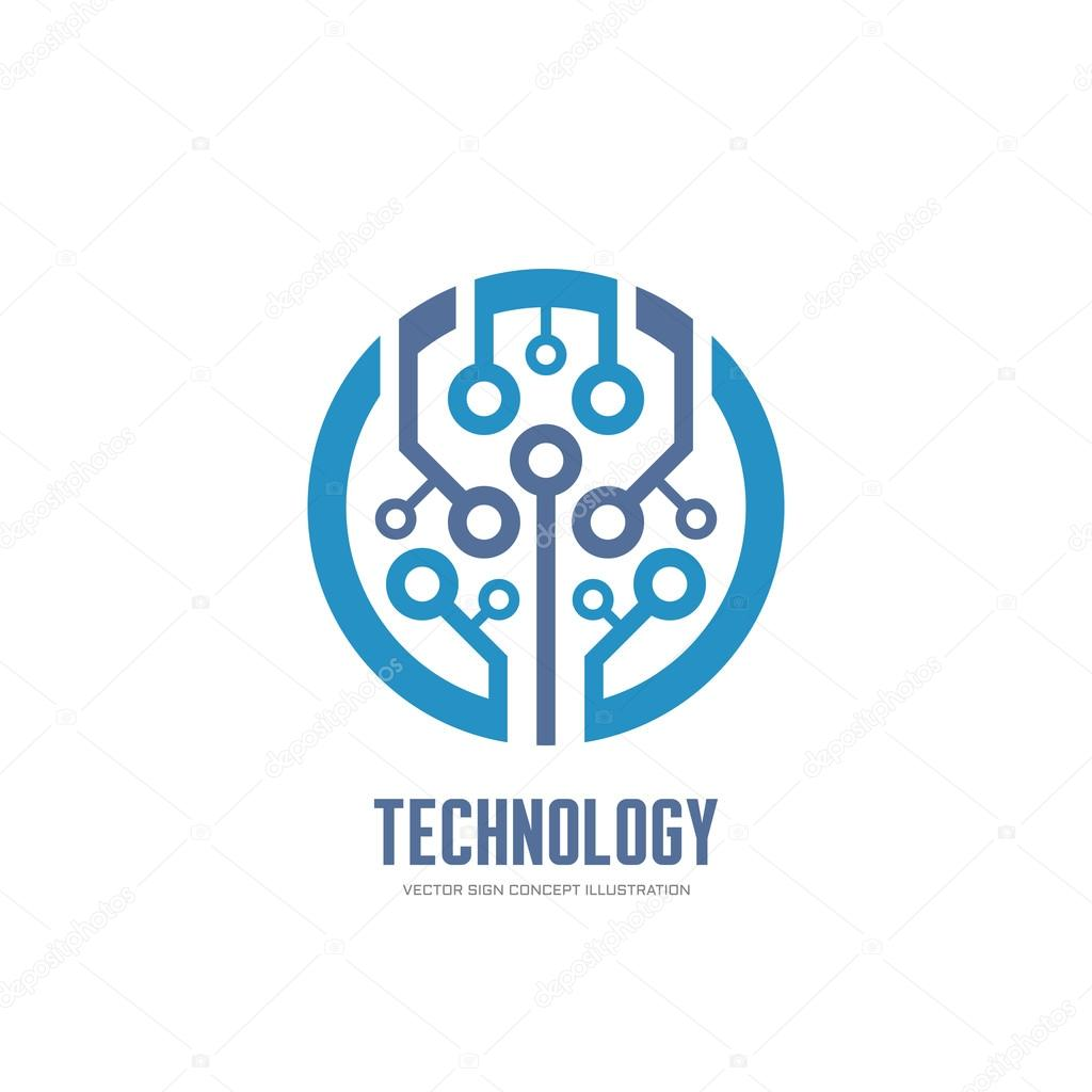 vector technology tech network internet web sign illustration concept element chip abstract template identity corporate channel serkorkin depositphotos
