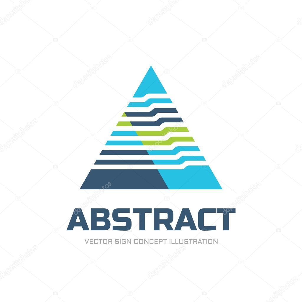 Triángulo Abstracto Ilustración Del Concepto De Logotipo