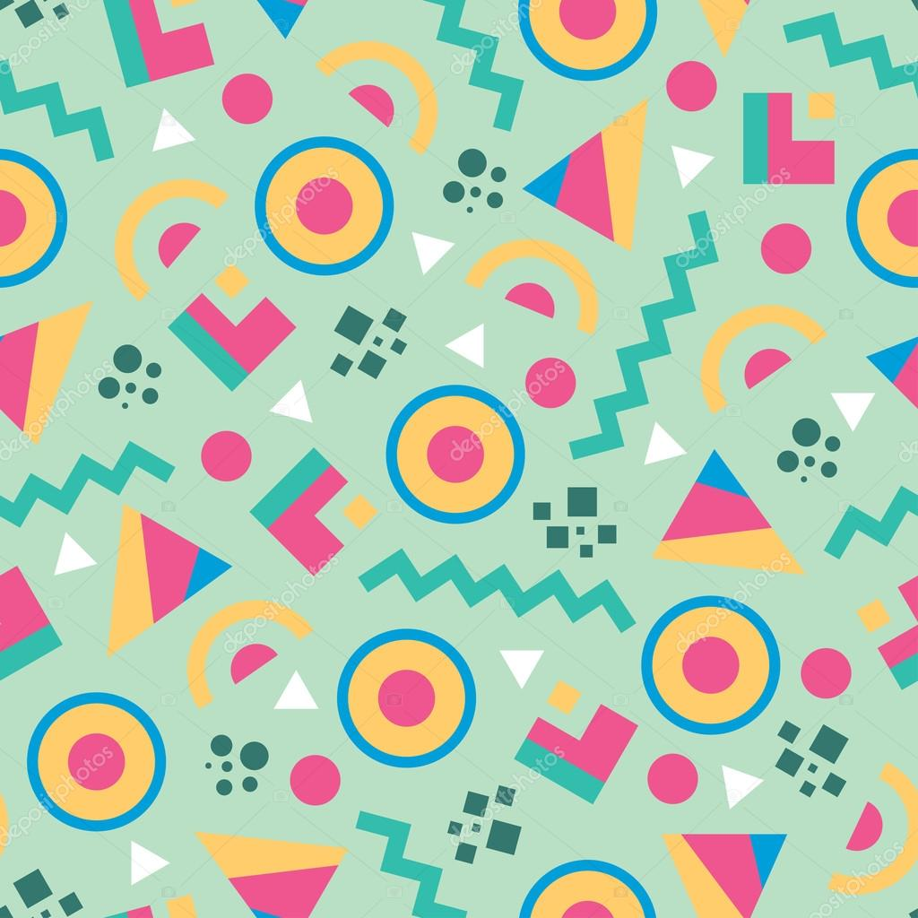 Abstract background vector seamless pattern in fashion retro