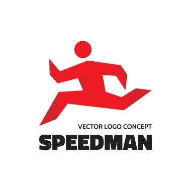 Speedman - vector logo concept illustration