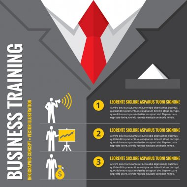 Business training - infographic vector illustration