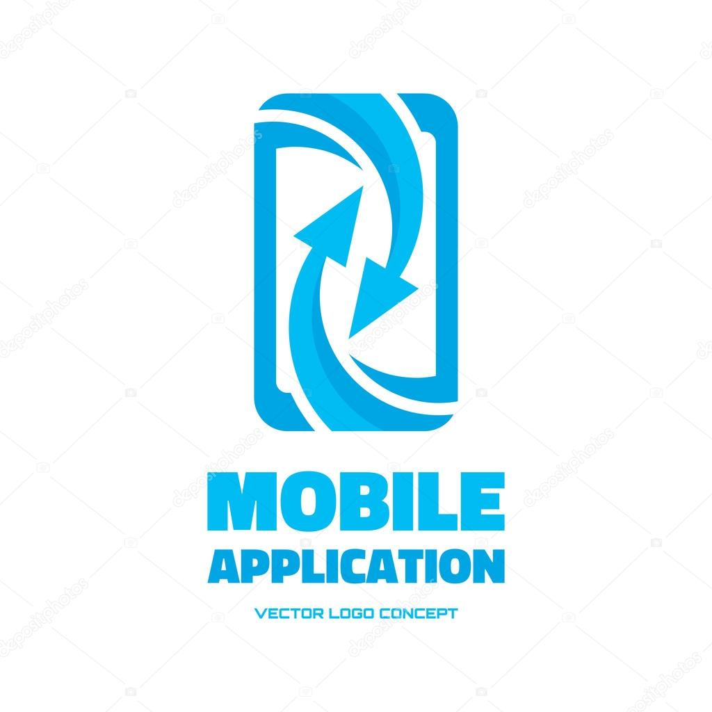 Mobile phone vector logo concept illustration abstract for Mobile logo