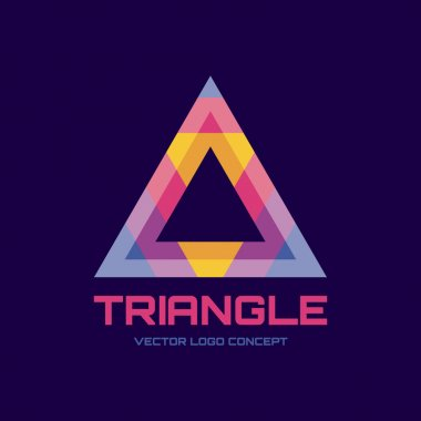 Triangle - vector logo concept illustration. Abstract triangle logo sign. Color pyramid abstract vector logo. Vector logo template. Design element.