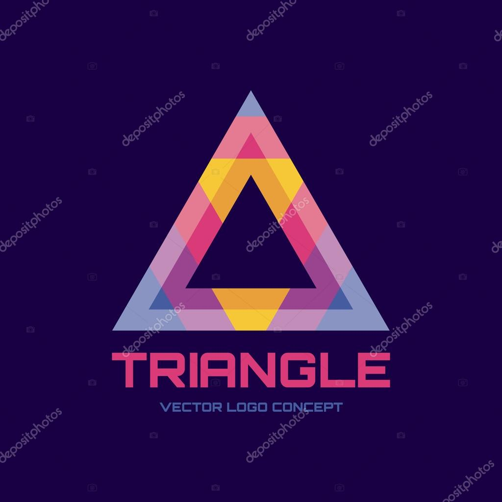 Triangle vector logo concept illustration abstract for Triangle concept architecture