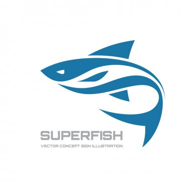 Super fish - vector logo concept illustration. Fish logo. Vector logo template. Design element.