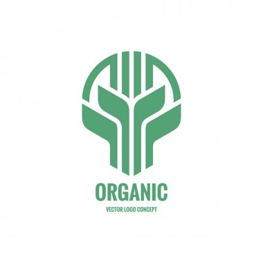 Sprouts and leaves - vector logo concept illustration. Organic logo. Ecology logo. Leafs logo. Bio logo. Nature logo. Agriculture logo. Vector logo template. Design element.