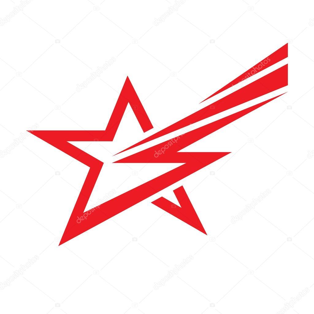 star and lighting vector logo concept illustration star sign