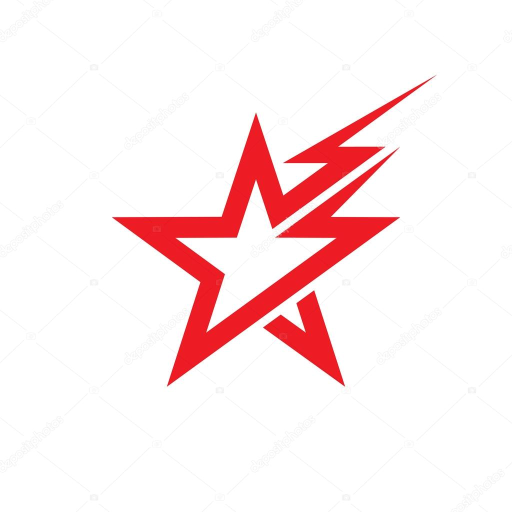 Star and lighting - vector logo concept illustration  Star