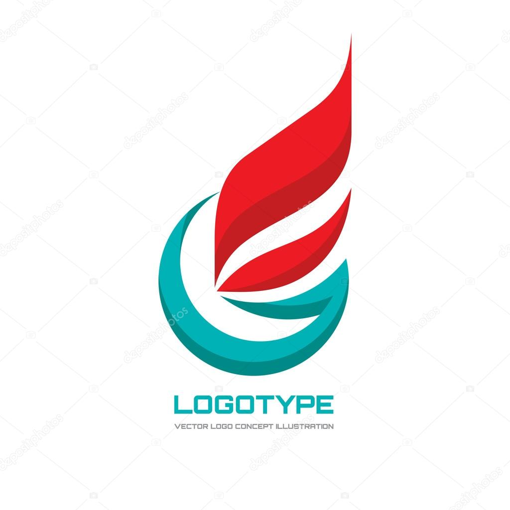 abstract vector logo concept illustration flag business