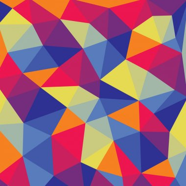 Polygonal abstract background - colored vector pattern.