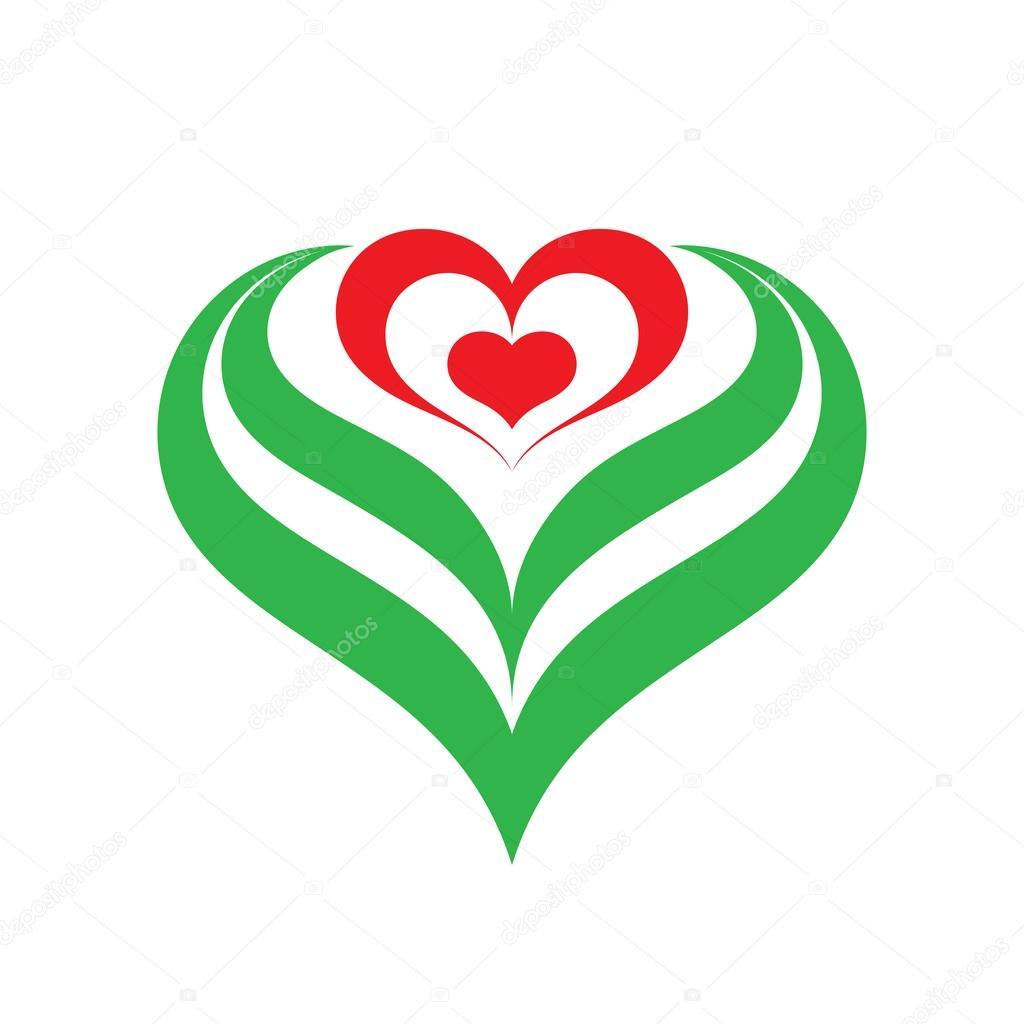 heart flower vector sign illustration heart flower logo