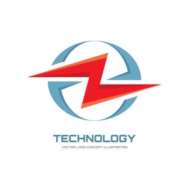 Electronic technology  - vector logo concept illustration. Lightning logo. Electricity power logo. Vector logo template.