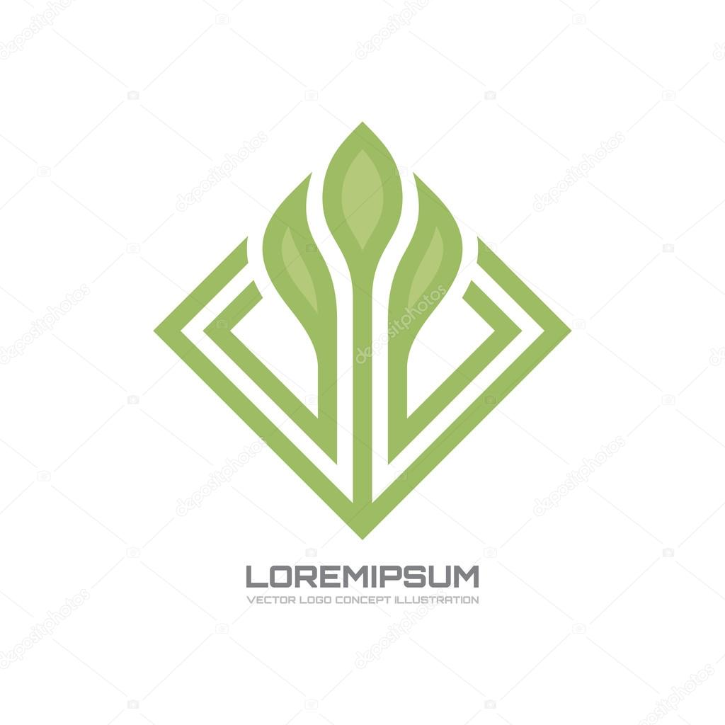 Sprout - vector logo concept illustration. Nature vector logo. Abstract vector logo. Vector logo template.