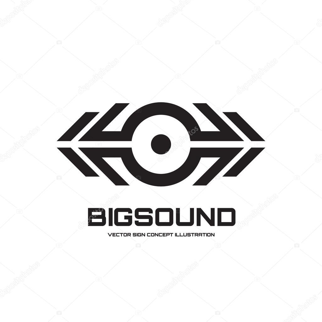 Big sound - vector logo sign concept illustration for dj, dance ...