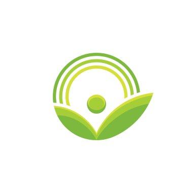 Nature - vector logo concept illustration. Ecology logo. Leafs logo sign. Bio logo. Organic logo. Agriculture logo. Vector logo template. Design element.