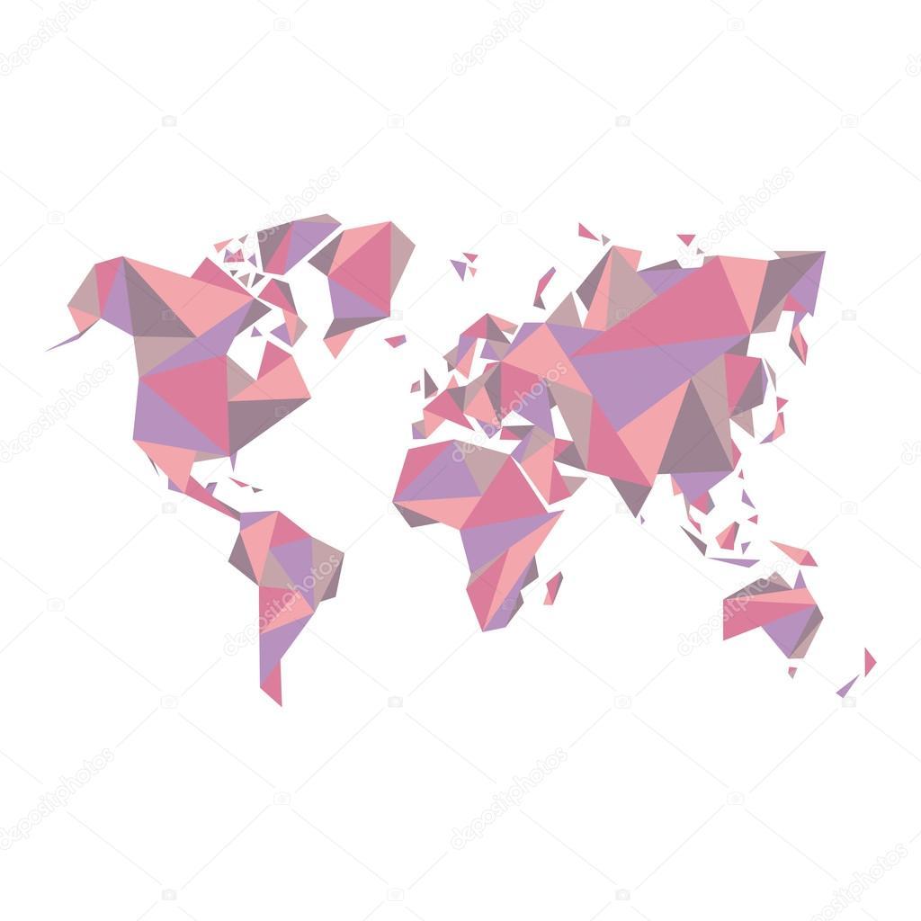 Résumé la carte du monde   vector illustration   Structure