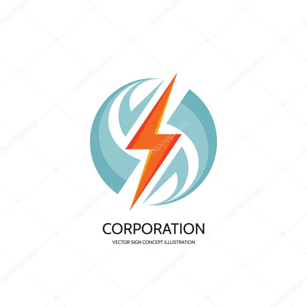 electronic technology vector logo concept illustration