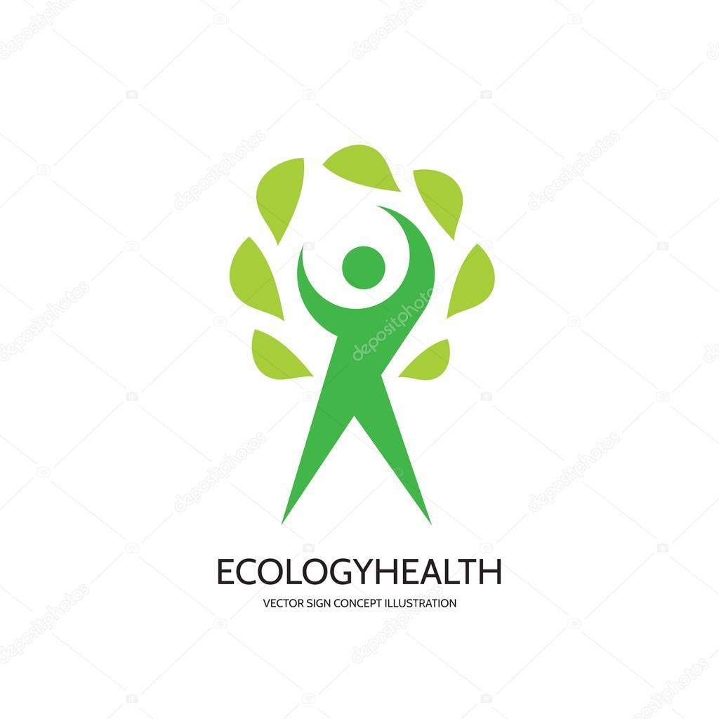 Ecology Vector Logo Concept Illustration Health Logo Healthcare