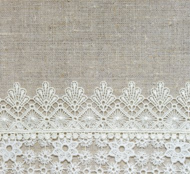 Textile background with lace