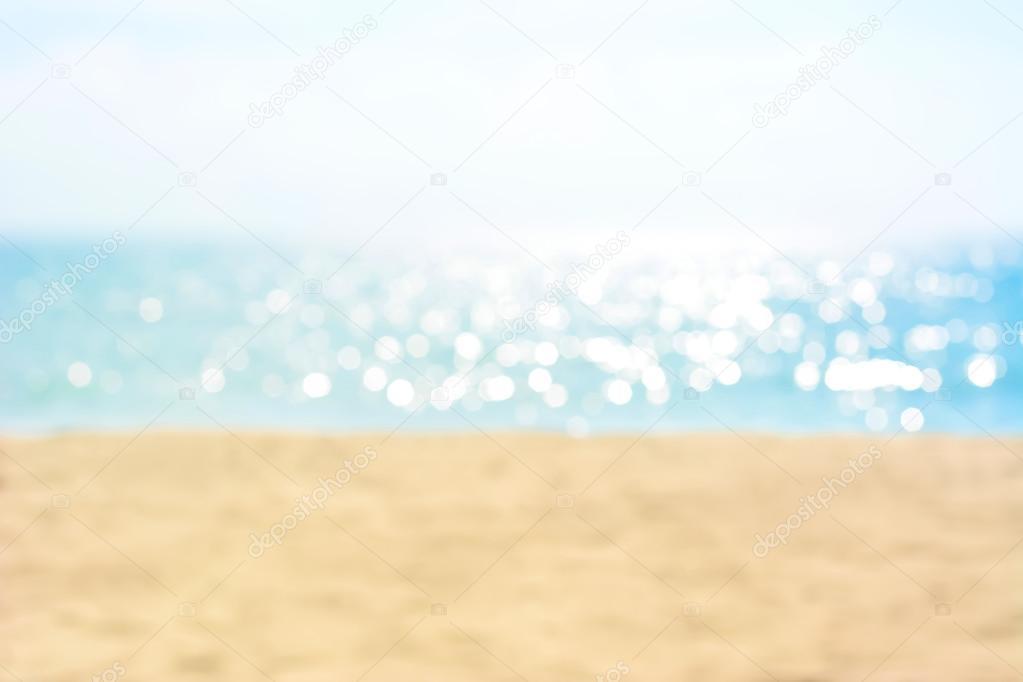Sfocatura Sabbia E Del Mare In Estate Per Sfondo Foto Stock