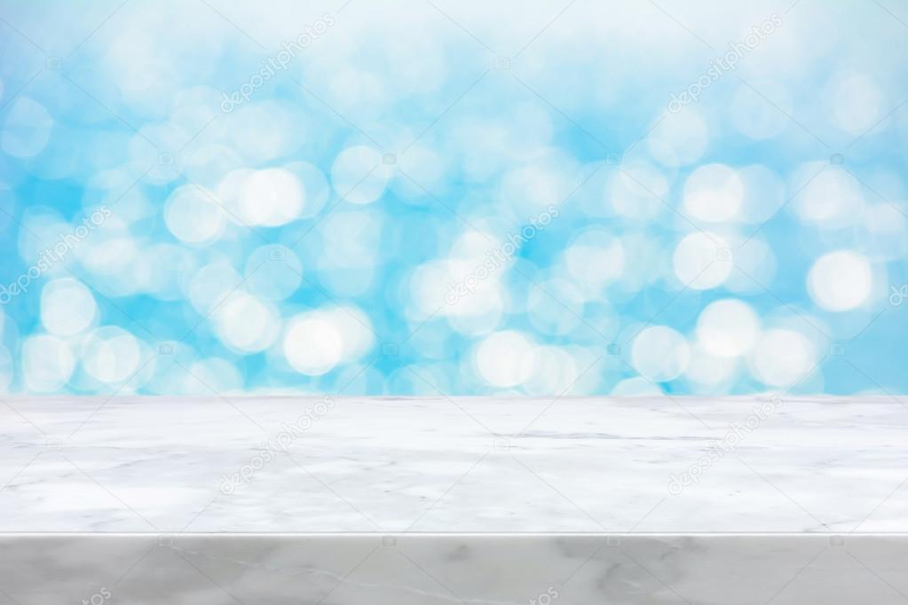 Weisse Marmor Stein Arbeitsplatte Auf Abstrakten Hintergrund Weiss