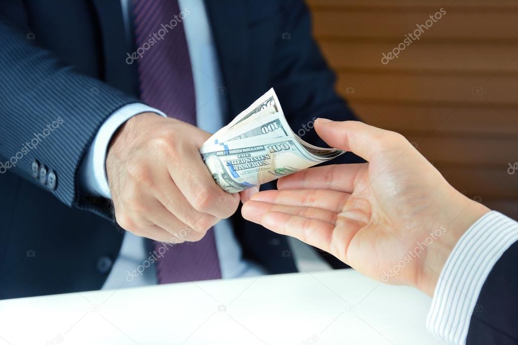 Hand receiving money — Stock Photo © kritchanut #112255566