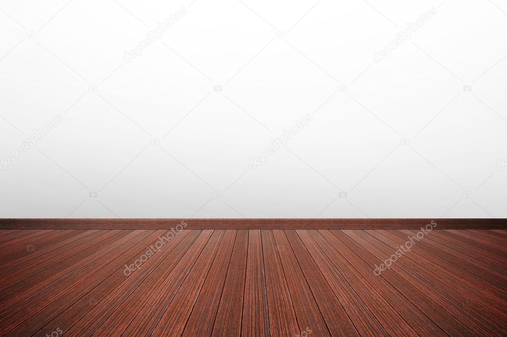 Houten Vloer Grijs : Houten vloer met witte grijze muur u stockfoto kritchanut