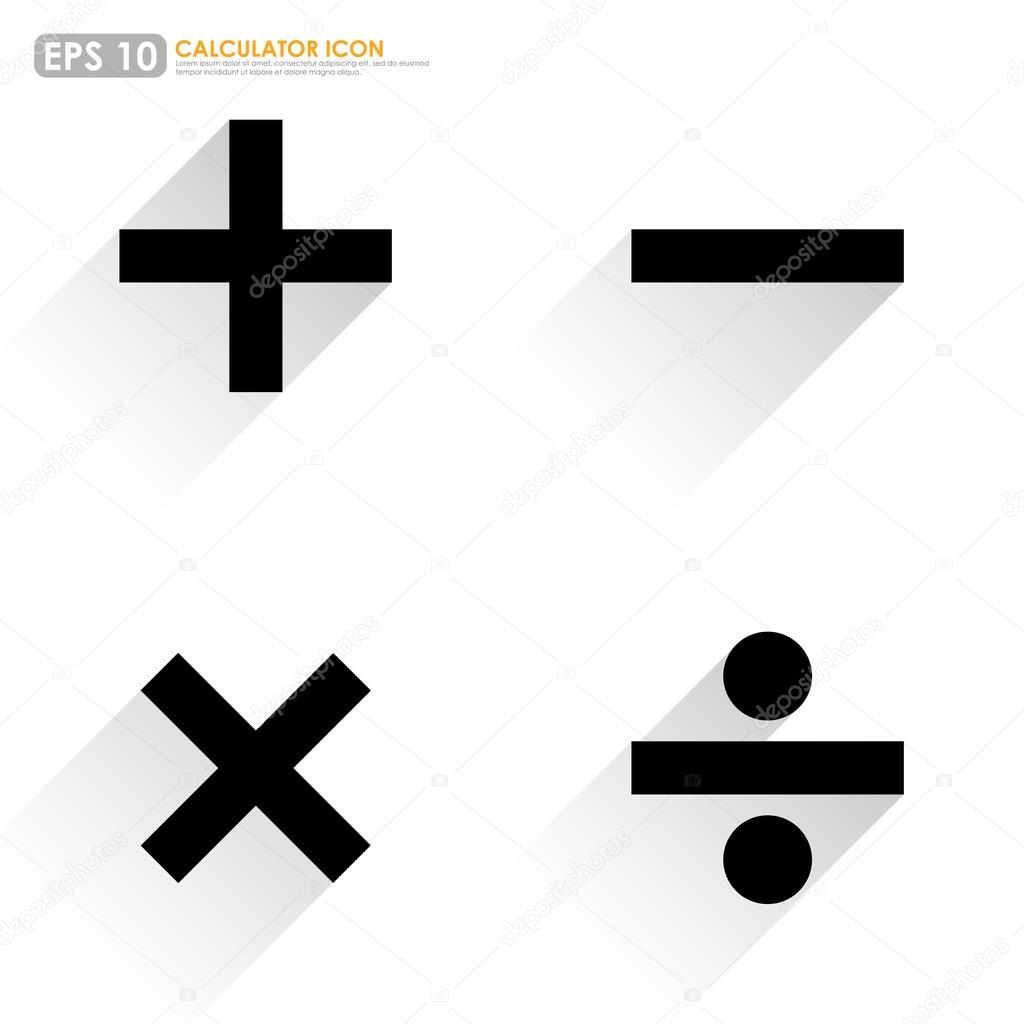 Basic mathematical symbols plus minus multiply divide basic mathematical symbols plus minus multiply divide on white background vector by kritchanut biocorpaavc
