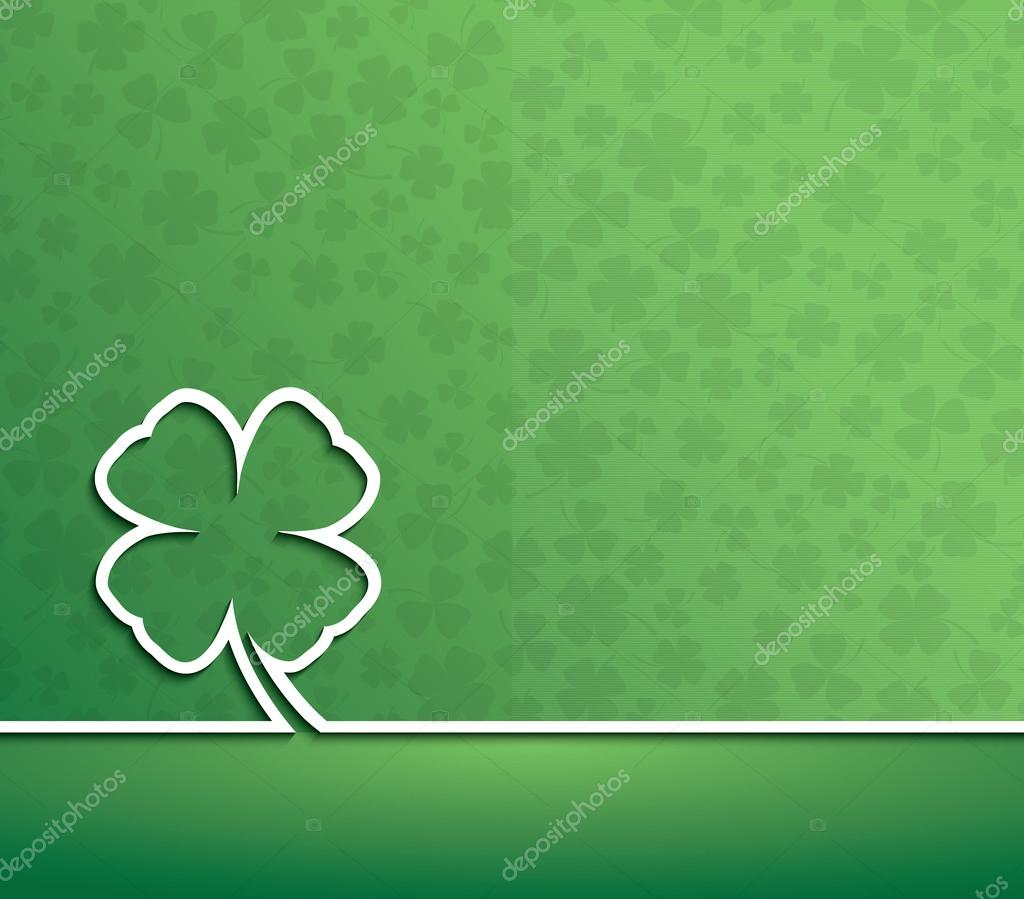 happy st patrick u0027s day irish four leaf lucky clover vector