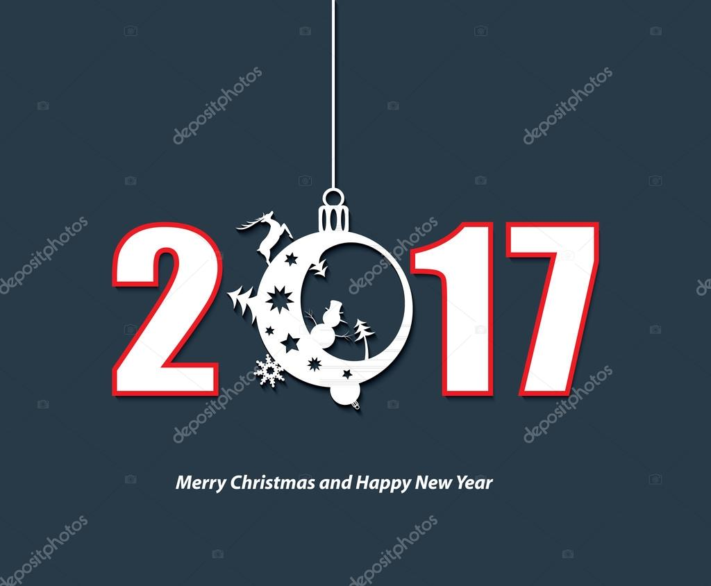 2017 new year creative design background for your greetings card 2017 new year creative design background for your greetings card stock vector kristyandbryce Choice Image