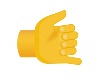Hand with Flat Style on Transparent Background . Isolated Vector Illustration icon