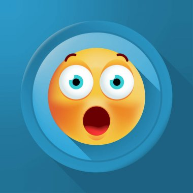 Cute High Quality Emoticon on Background . Isolated Vector Illustration icon