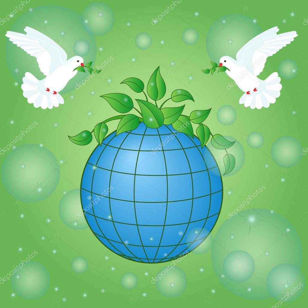 символ мира голубь и шар земной картинки новых поступлениях магазин