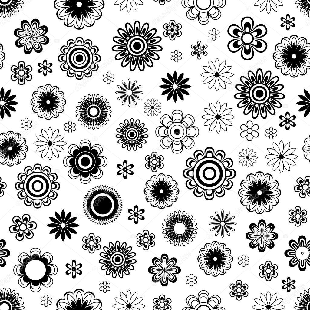 Patrón transparente con flores sobre blanco — Vector de stock ...