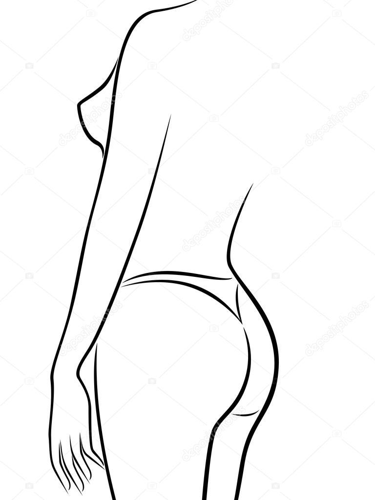 corps de la femme abstraite demi tour en bikini image vectorielle natreal 68527553. Black Bedroom Furniture Sets. Home Design Ideas