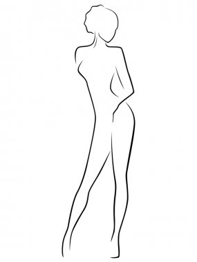 Abstract slim female body