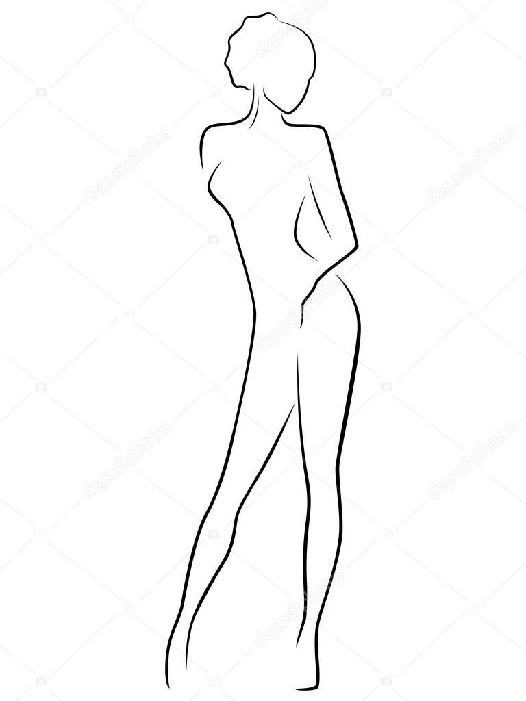Female Body Outline Stock Vectors Royalty Free Female Body Outline