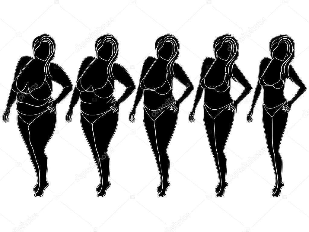 Оригинальные картинки абстрактной женской фигуры