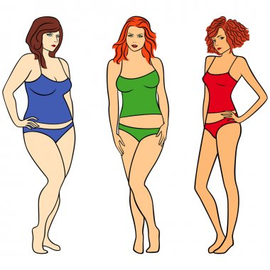 Females with different figures
