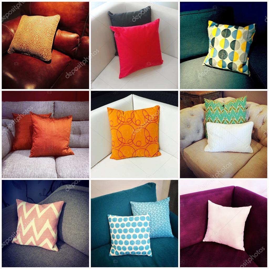 Dise o de interiores cojines cojines de colores collage - Cojines de diseno ...
