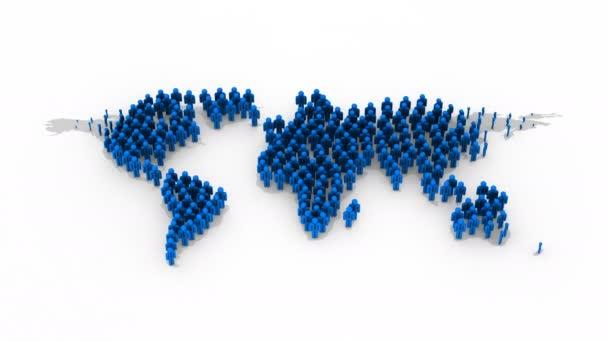 Lidé forma mapa světa