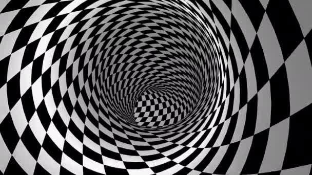 Pohybuje se v tunelu. Abstraktní pozadí, smyčka, vytvořeno ve 4K, 3D animace