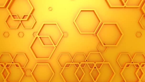Animated Hexagons Background. Abstract motion, loop, 3d rendering, 4k resolution