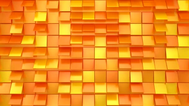 Pozadí animovaných čtverců. Abstraktní pohyb, smyčka, 4 v 1, 3d vykreslení, rozlišení 4k