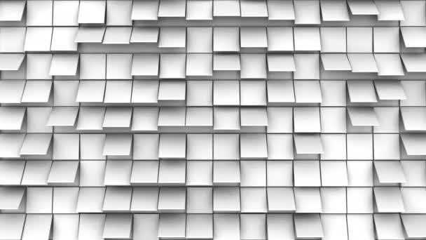 Háttér animált négyzetek. Absztrakt indítvány, loop, 3d renderelés, 4k felbontás