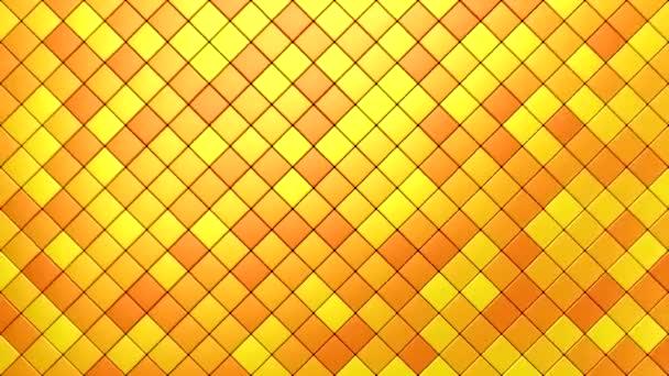 Rhombuses Formulář A Wave. Abstraktní pohyb, smyčka, 2 v 1, 3d vykreslení, rozlišení 4k