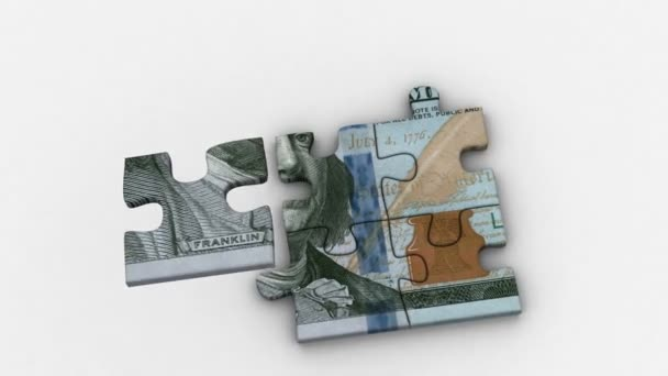 Animated Puzzles with Image of New 100 Dollars
