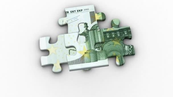 Animované puzzle s obrázkem 100 euro